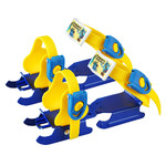 Child�s blade attachment for shoes Worker Duckss Blue