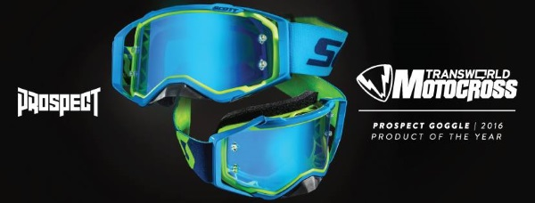 ec4b263f8 ... Motorcycle Goggles SCOTT Prospect have been evaluated as the product of  thy year in the popular American magazine Transworld Motocross.