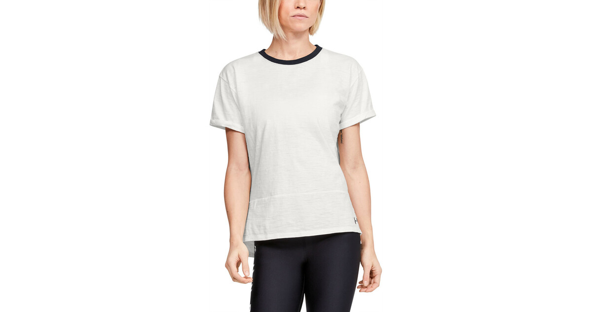 Under Armour Charged Cotton Short Sleeve Womens Training Top Black