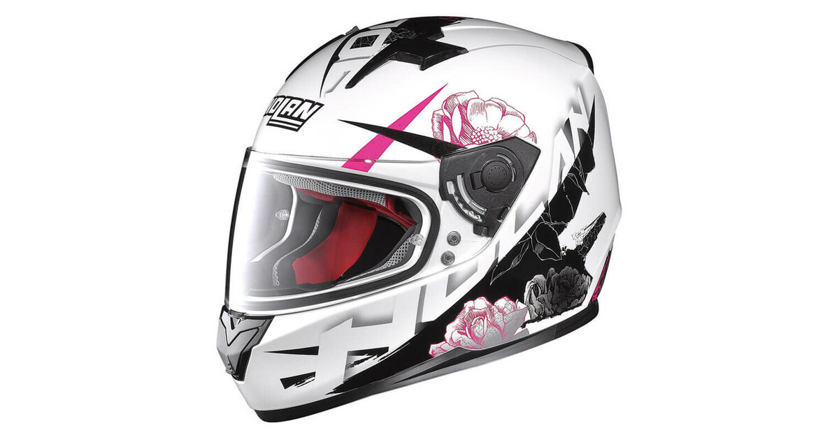 20711d5076b93 Moto Helmet Nolan N64 Stylet Metal White - inSPORTline