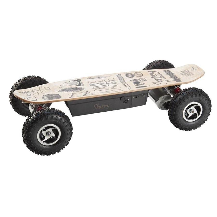 electric longboard skatey 800 off road wood art insportline. Black Bedroom Furniture Sets. Home Design Ideas