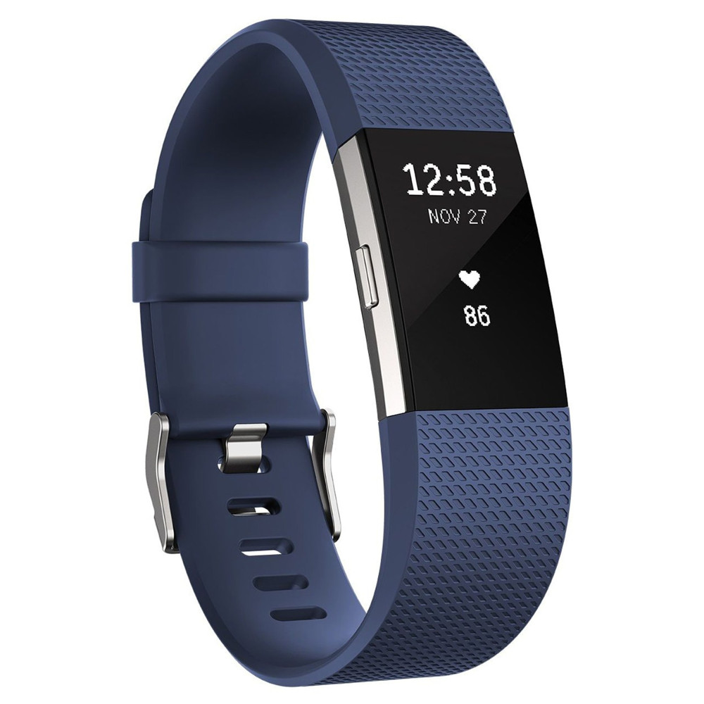 95380ba1df6 Fitness Tracker Fitbit Charge 2 Blue Silver - inSPORTline