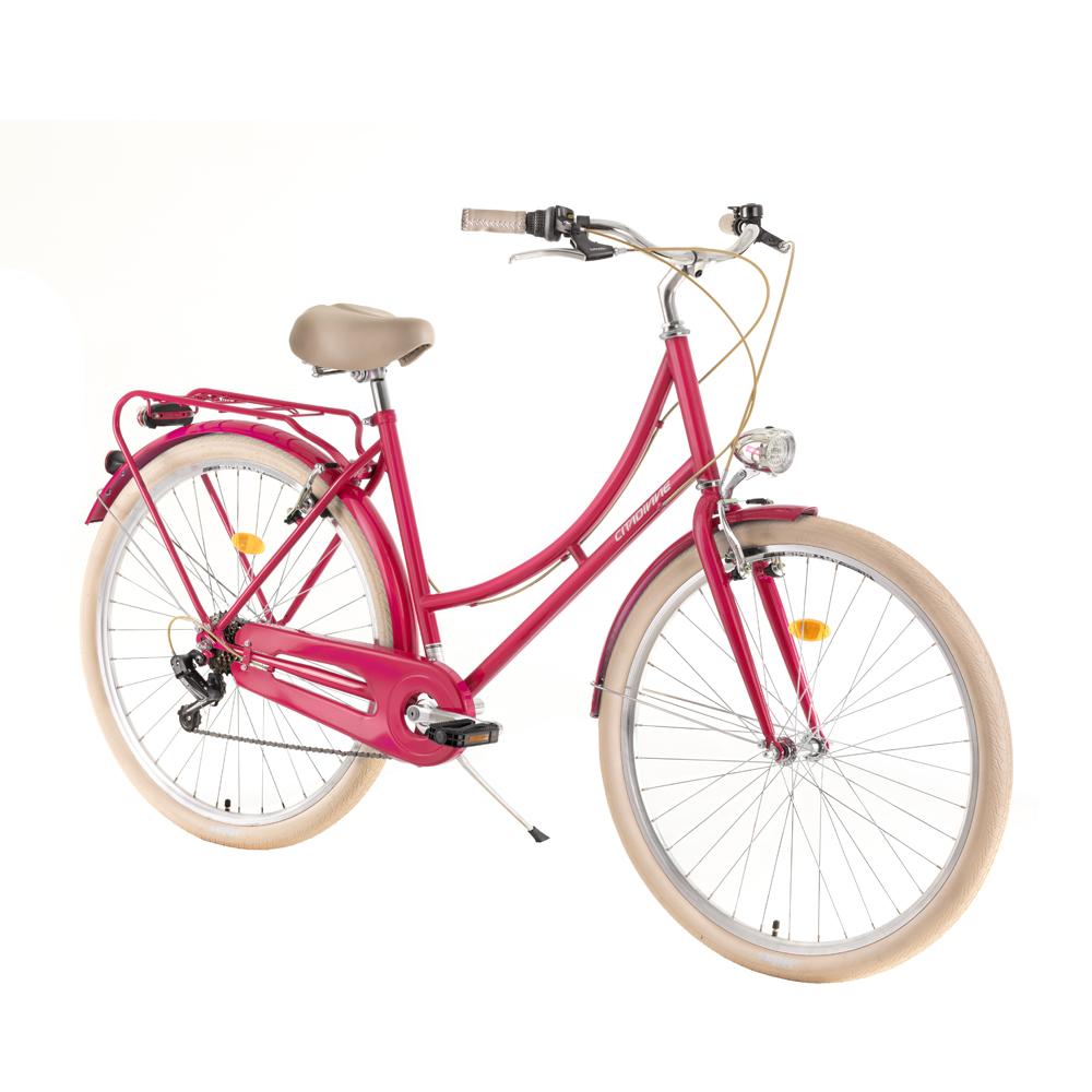 urban bike dhs citadinne 2834 28 2019 pink insportline. Black Bedroom Furniture Sets. Home Design Ideas