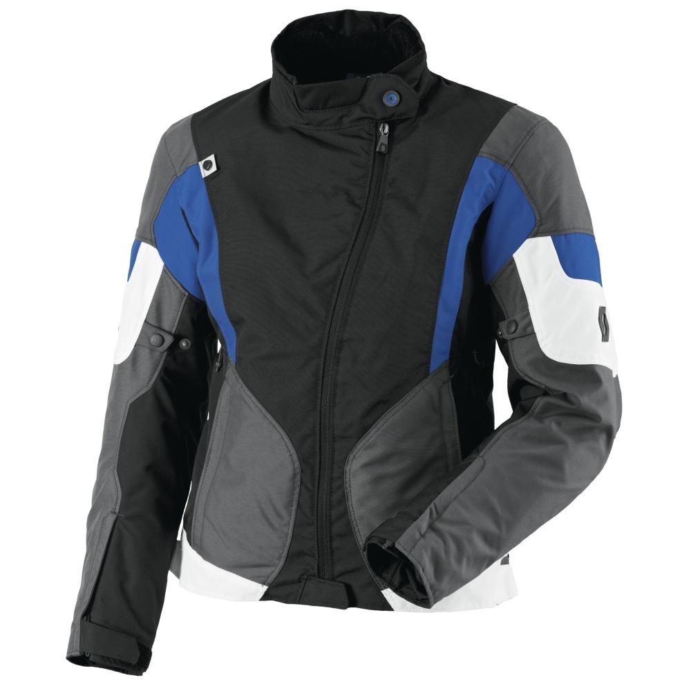 Women's Motorcycle Jacket Scott Technit DP - Black-Blue