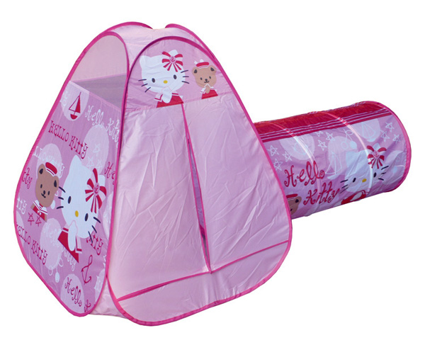 hello kitty tent for children with tunnel. Black Bedroom Furniture Sets. Home Design Ideas