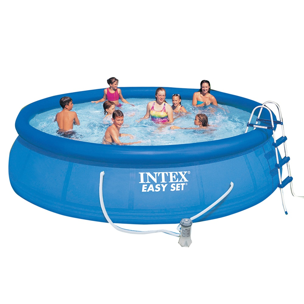 Intex pool with filtration 4 5 x m insportline for Intex pool 150 cm tief