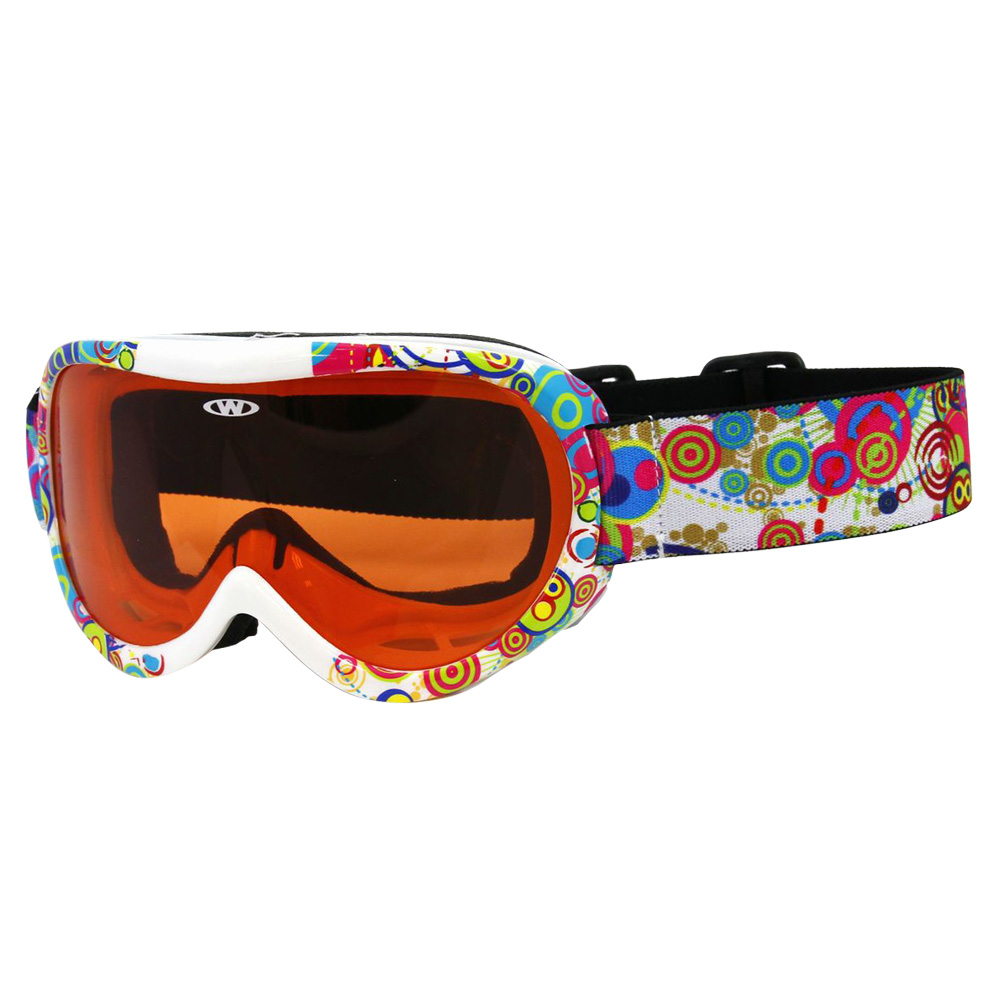 2197b3b046b4 Kids ski goggles WORKER Miller with graphics - Z12-RED- red graf. Quality  and lightweight ...