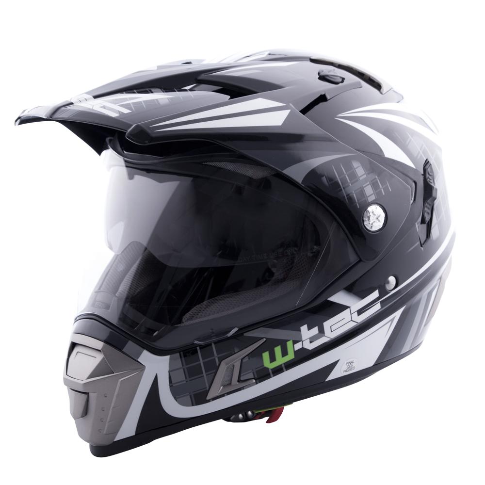 Motocross Helmet W Tec Nk 311 Insportline Visor Clear