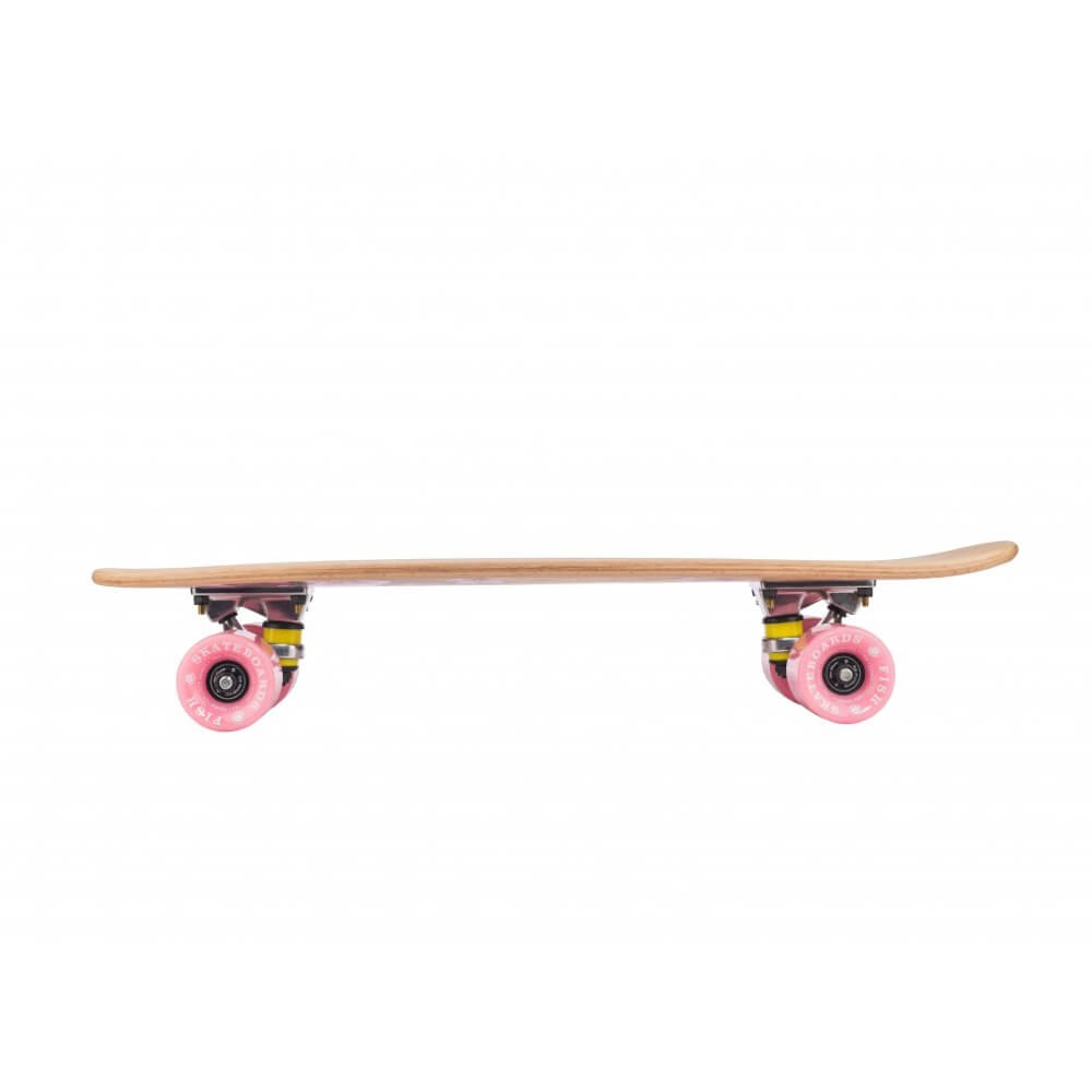 8becd1676 Penny Board Fish Classic Wood - Black Skull-Silver-Transparent White ...