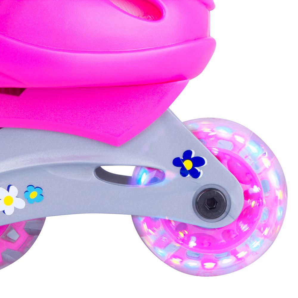 Roller skates light up - Children S Rollerblading Set Worker Polly Led With Light Up Wheels