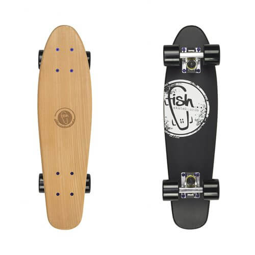 Ideal Penny Board Fish Classic Wood - Cactus - inSPORTline UF61