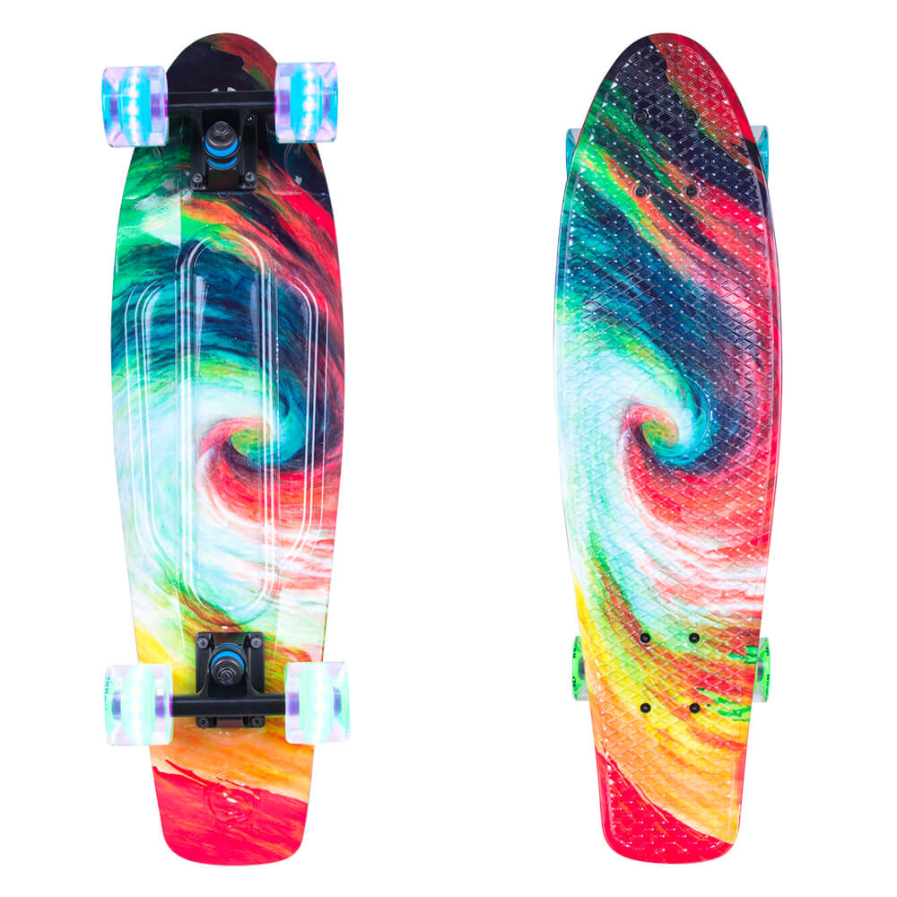 """Hedendaags Penny Board WORKER Whirley 27"""" with Light-Up Wheels - inSPORTline ZD-59"""