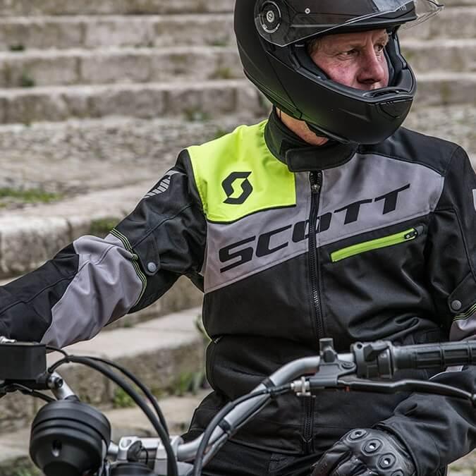Moto Jacket SCOTT Sport PRO DP MXVII - Black-Light Grey. Easily adjustable  ... 7fadc7618ca7