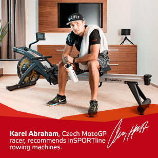 Karel Abraham recommends inSPORTline rowing machines