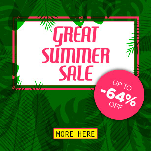 Great Summer Sale - Up to 64% Off!