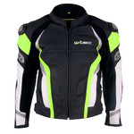 Men's Leather Moto Jacket W-TEC Velocity