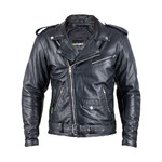 Leather Motorcycle Jacket W-TEC Perfectis