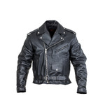Leather Motorcycle Jacket Sodager Live To Ride