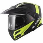 Flip-Up Motorcycle Helmet LS2 FF324 Metro EVO Rapid Matt Black Gloss Yellow