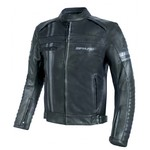 Men's Leather Motorcycle Jacket Spark Brono Evo