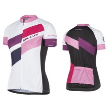 Short-Sleeved Women's Cycling Jersey Kellys Maddie - Pink