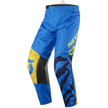 Children's Motocross Pants SCOTT 350 Race Kids MXVII - Blue-Yellow