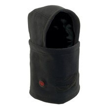 Heated Hooded Neck Warmer Glovii GHB - Black