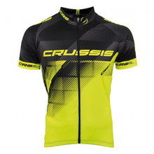 Cycling Jersey Crussis - Black-Fluo Yellow