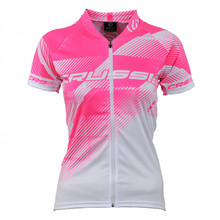 Women's Cycling Jersey Crussis - White-Pink