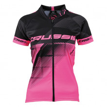 Women's Cycling Jersey Crussis - Black-Pink