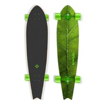 "Longboard Street Surfing Fishtail – The Leaf 42"" - Green Truck"