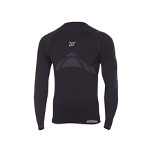 Thermal Motorcycle Long Sleeve T-Shirt Rebelhorn Active - Black