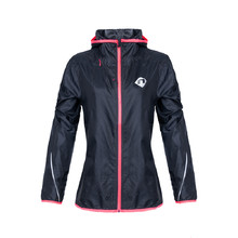 Women's Running Jacket Newline Imotion Print – with Hood - Dark Blue