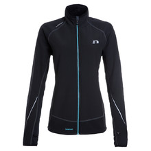 Women's running jacket Newline Iconic Warmtack - Black-Turqouise
