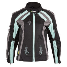 Women's Motorcycle Jacket W-TEC Antigona - Black-Blue