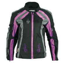 Women's Motorcycle Jacket W-TEC Antigona - Black-Violet