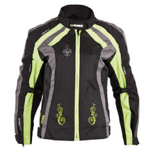 Women's Motorcycle Jacket W-TEC Antigona - Black-Green