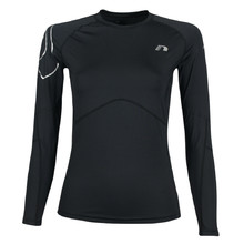Women's compression thermal shirt Newline Iconic - long sleeve - Black