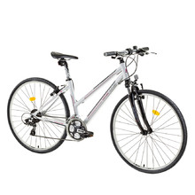 "Women's cross bike DHS Contura 2866 28"" - model 2015 - White/Red"