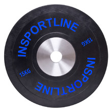 Rubber Weight Plate inSPORTline Bumper Plate 15 kg