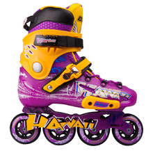 Inline Skates Baud BD276 - Violet-Yellow