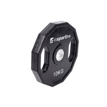 Rubber Coated Olympic Weight Plate inSPORTline Ruberton 10kg