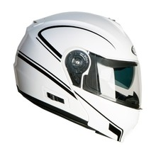 Motorcycle Helmet Ozone FP-01 - White-Black