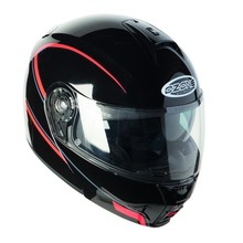 Motorcycle Helmet Ozone FP-01 Black-Red - Black-Red