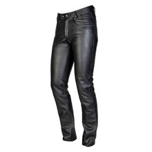 Men's Leather Moto Pants Ozone Daft - Black