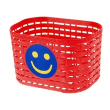 Children's Front Plastic Bike Basket - Red