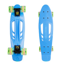 Pennyboard WORKER Bony 22ʺ W/ Light Up Wheels - Blue