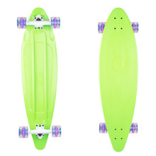 Plastic Longboard WORKER Pike 36ʺ W/ Light Up Wheels - Green