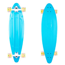Plastic Longboard WORKER Pike 36ʺ W/ Light Up Wheels - Blue