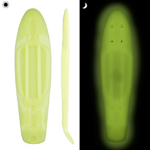"Glow-in-the-Dark Penny Board Deck WORKER Solosy 22.5*6"" - Yellow"